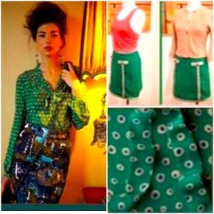Anthro Skirt & Blouse Combo